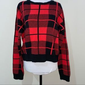 Forever 21 Plaid Sweater